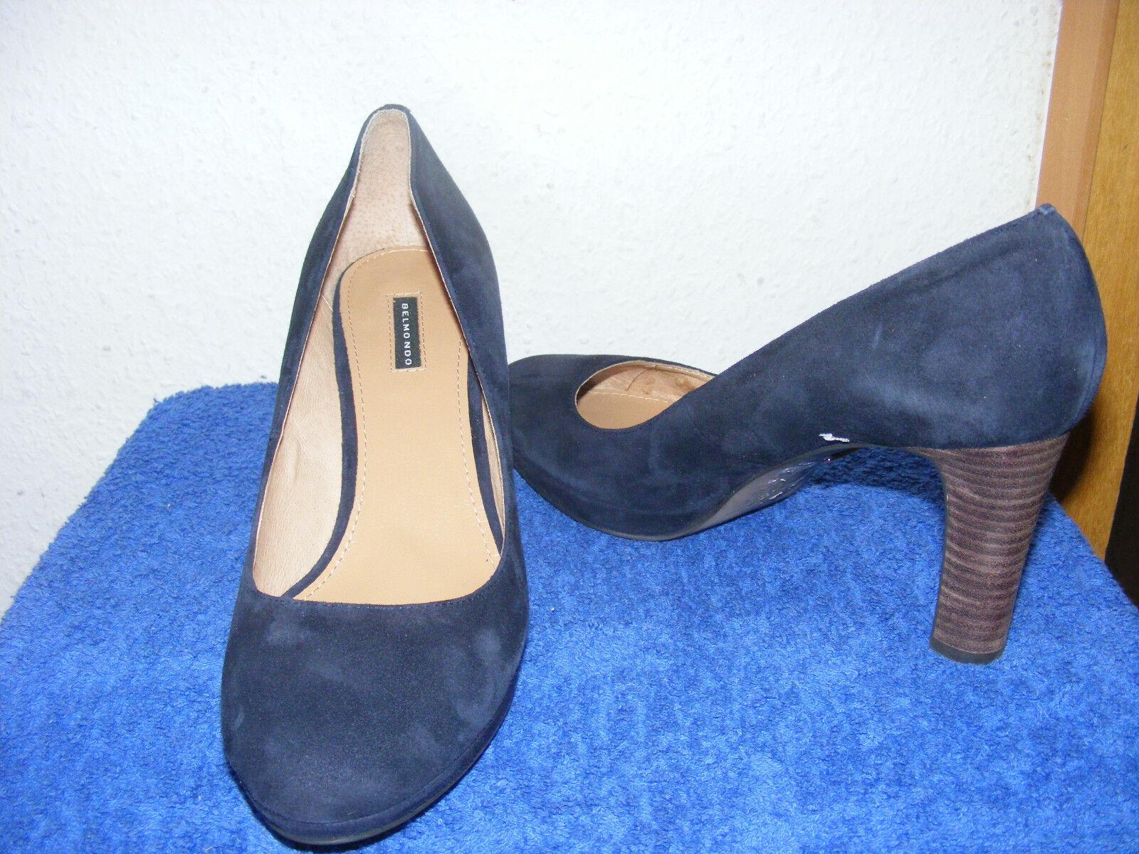 Zapatos Zapatos Zapatos de salón talla 41 azul de salón nuevo párrafo belmondo 8 cm azul tacón alto  productos creativos