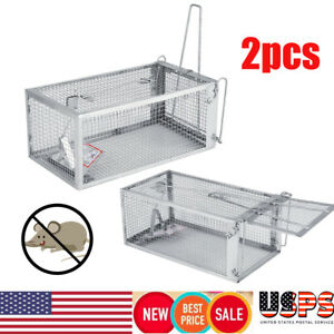 2-Pack-Rat-Iron-Trap-Cage-Small-Animal-Pest-Mice-Mouse-Control-Bait-Rodent-Catch