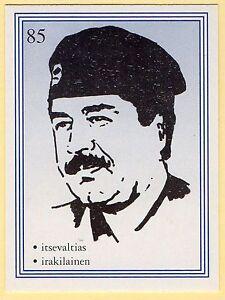 1990s-Finnish-Film-Star-Card-Fame-Alias-85-Iraqi-Dictator-Saddam-Hussein