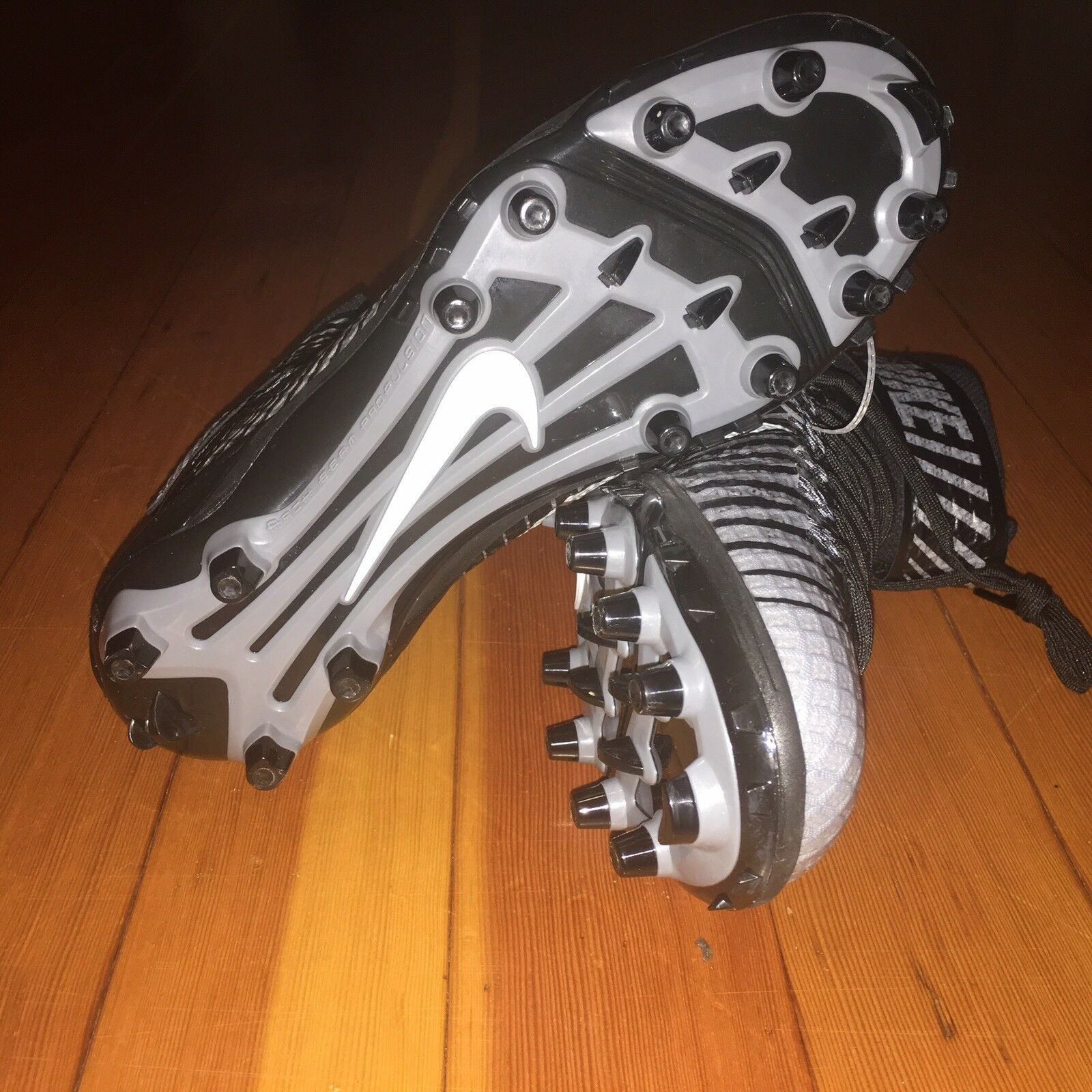 nike noirs lunarbeast noirs nike / gris élite td crampons 779422-010 nouvelle taille 10 57cf22