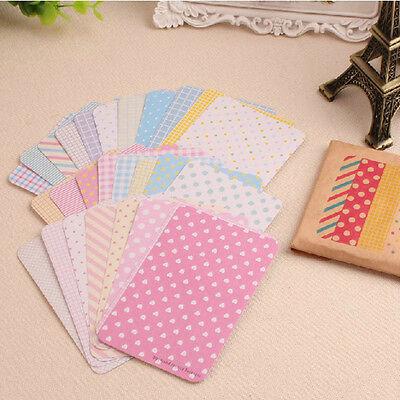 27X Scrapbook Basic Masking Tape Craft Stickers Pack Decorative Labelling hot