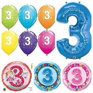 Age-3-Happy-3rd-Birthday-Qualatex-Balloons-Helium-Party-Balloons-Boy-Girl