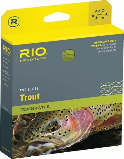 RIO AVID TROUT TROUT TROUT NEW WF-7-F  7 WEIGHT FORWARD FLOATING FLY LINE Gelb 678e52