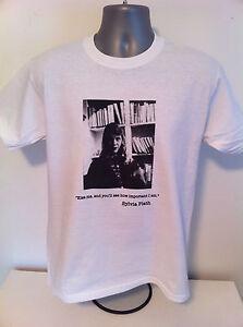 SYLVIA-PLATH-T-SHIRT-039-KISS-ME-039-Poetry-Bell-Jar-Feminisism-Feminist-Ted-Hughes