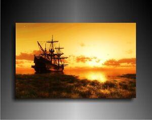 bild auf leinwand segelboot wandbilder leinwandbilder kunstdrucke n687 ebay. Black Bedroom Furniture Sets. Home Design Ideas