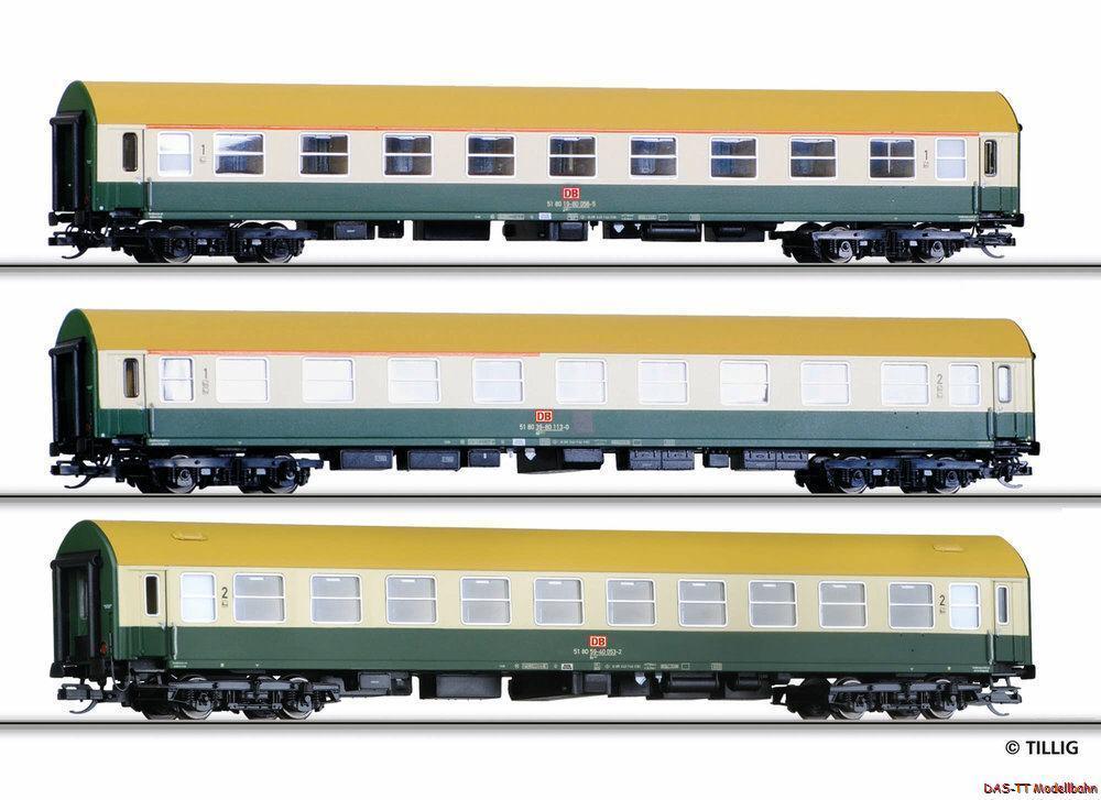 TT reisezugwagenset 3 piezas DB AG EP. V Tillig 01699 nuevo