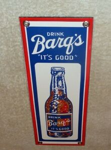 VINTAGE-034-DRINK-BARQ-039-S-ROOT-BEER-IT-039-S-GOOD-034-12-034-PORCELAIN-METAL-SODA-POP-GAS-SIGN