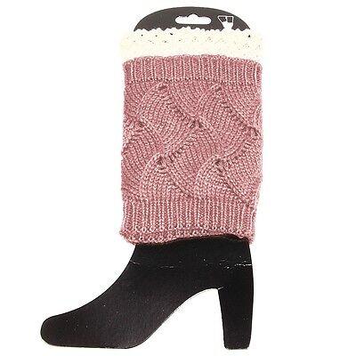 "Pink and Cream Leg Warmer 9"""