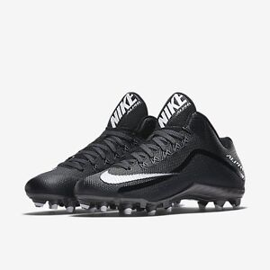 ee9a155e2326 NEW!  100 Nike Alpha Pro 2 3 4 TD Football Cleats Black   Metallic ...