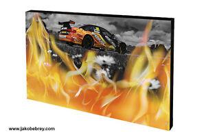 Orange-Graphic-Art-Motor-Sport-Canvas-Touring-Cars-2015-Rob-Austin-Flaming-Verge