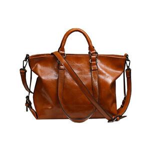 Vintage Damen Handtasche aus Kunstleder Schultertasche Umhängetasche Tasche