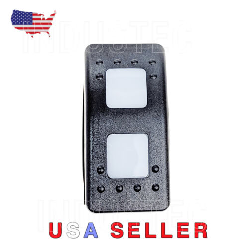 Switch White Led ARB//Carling//NARVA Boat ATV Marine Latched 7 Pins DPDT Rocker