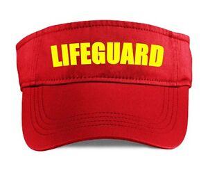810ce9b431eb05 Image is loading LIFEGUARD-Visor-Red-Funny-Printed-Fancy-Dress-Costume-