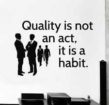 Vinyl Wall Decal Office Quote Inspire Motivation Decor Stickers Mural (ig4611)