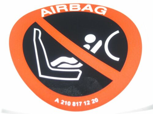 AG Baby Bambino Sedile Adesivo Di Avvertimento Etichetta A2108171220 MERCEDES AIR