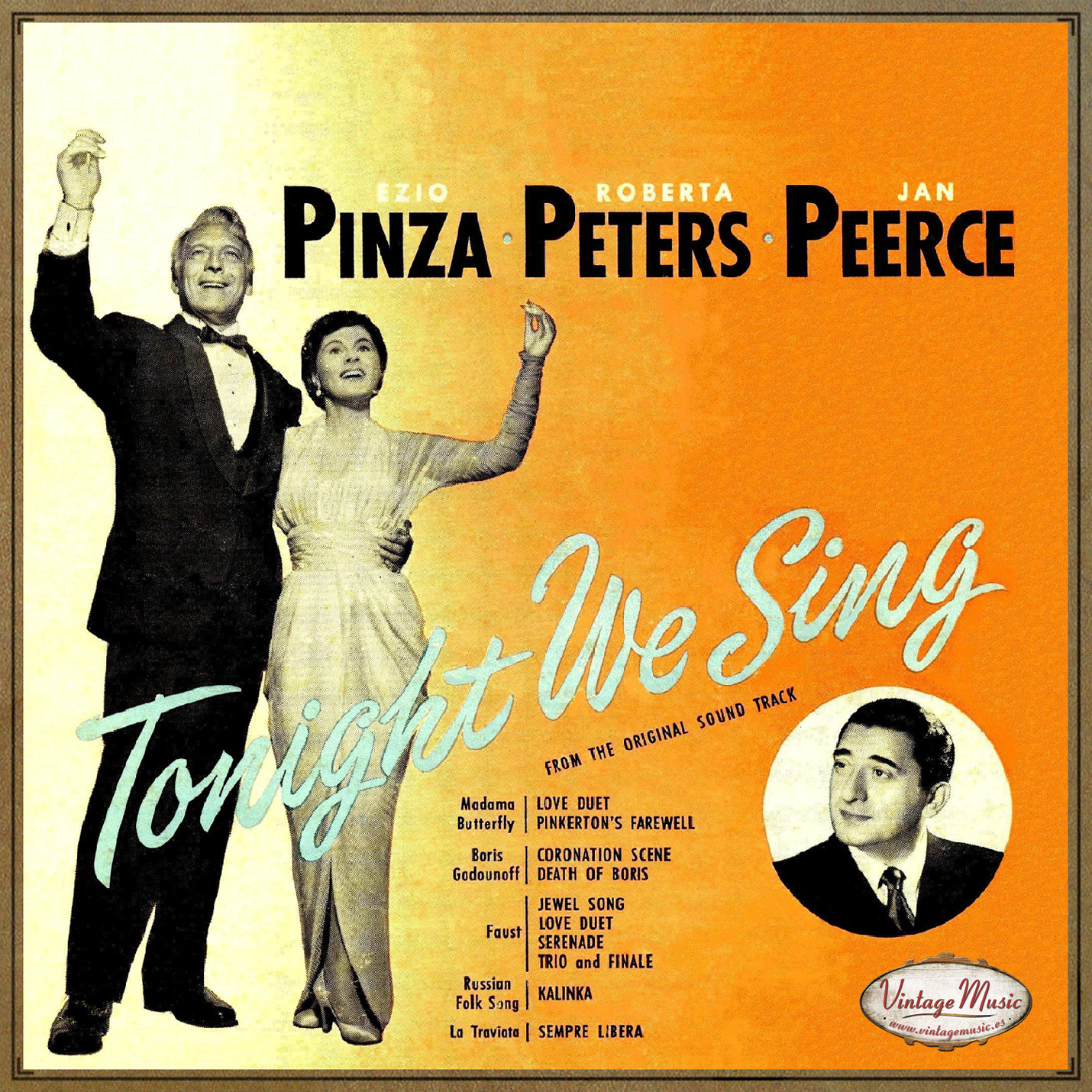 TONIGHT WE SING CD Vintage / Ezio Pinza - Roberta Peters -...