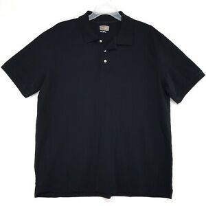 Foundry-Polo-Golf-Shirt-Mens-Size-XXL-2XL-Black-Solid-Short-Sleeve-Cotton
