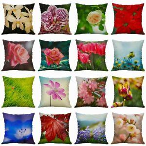 Cotton-Linen-Throw-Plant-Home-Cushion-Cover-Sofa-Decor-Flower-Pillow-Case