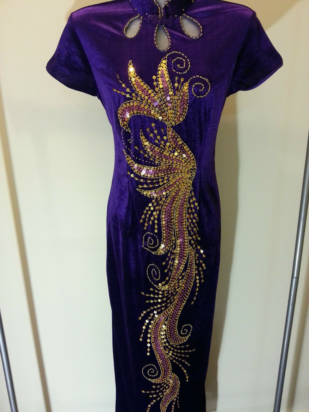 SALE  Größe 10 (M) (MN-PP) New Prom Evening Long Dress Party Gown With Sequins