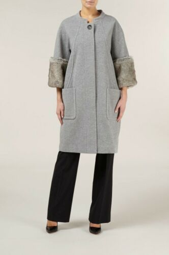 Coat 299 Rrp Cuffed A 8 £ Uk Fur Ladies Kaliko Størrelse Faux Cocoon Box74 00 IwZPC1nqS