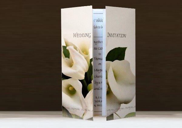 Invitations Personnalisées Mariage jour et soir-Blanc soir-Blanc et Calla Lily bouquet fleur 7b0d4d