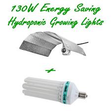 130W CFL DUAL LAMP 2700K 6400K & BATWING ALUMINUM REFLECTOR HYDROPONIC GROW TENT