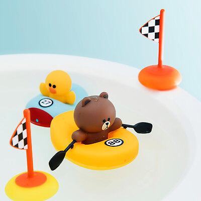 Korea LINE Friends Brown Sally Boat Race Kids Children Bath Play Gift Set