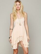 Free People Intimately Pieced Voile Lace Ivory Mini Slip Dress XS Rare