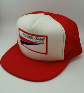 1f5df9c3 Vintage Ryder PIE Trucking Snapback Hat Cap Trucker Mesh Advertising ...