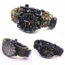 Military Paracord Survival Sport Swimming Wrist Watch Tactical Bracelet Outdoor