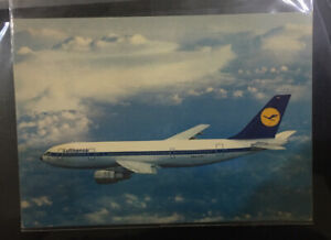 Germany-Lufthansa-airbus-A300-post-card-with-1976-Olympic-stamp