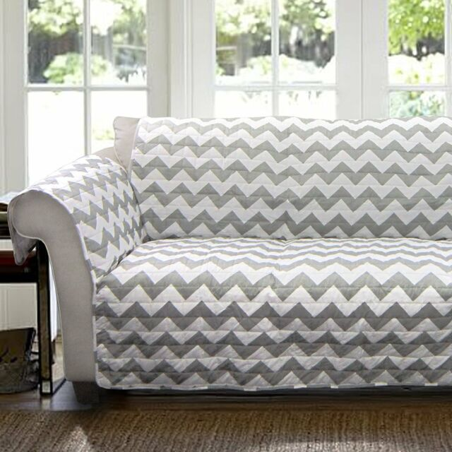 Fabulous Lush Decor Chevron Slipcover Furniture Protector For Loveseat Gray White Alphanode Cool Chair Designs And Ideas Alphanodeonline