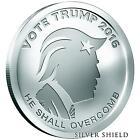2016 VOTE TRUMP OLIGARCHY B.U 1 oz .999 SILVER ART ROUND SILVER SHIELD
