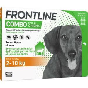 FRONTLINE Combo Chien - Anti-puces et anti-tiques pour chien - 6 pipettes