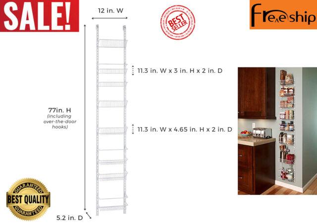 18-Inch 2-Pack ClosetMaid 1233 Adjustable 8-Tier Wall and Door Rack