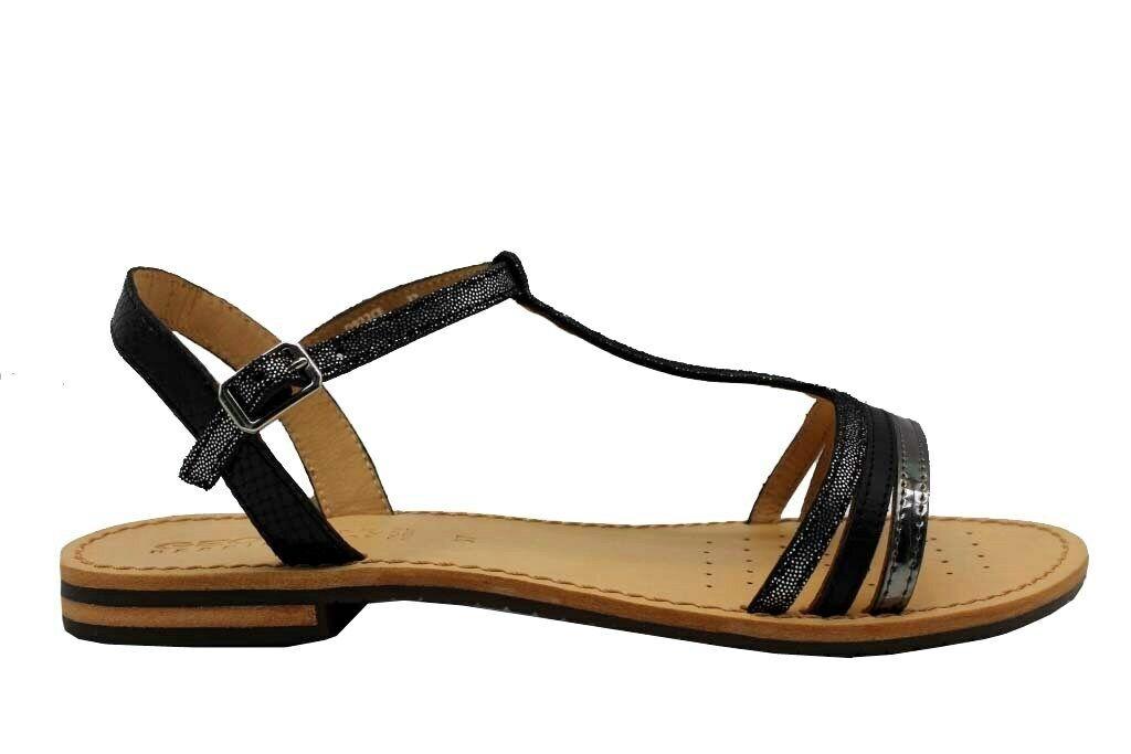 Geox Sozy D922CE 0GAMA Schwarz Footwear Slipper Sandalen Damen