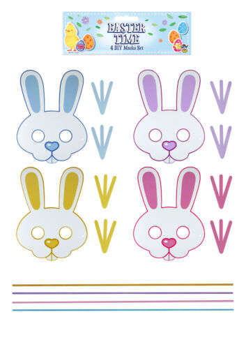 4 Easter DIY Craft Masks Toy Loot//Party Bag Kids Bunny Sheep Make Your Own
