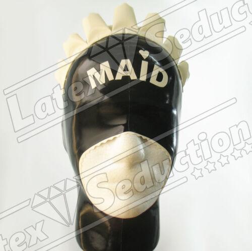 Rubber Gummi Mask Masken Haube Kapuze BLIND OPEN SISSY LATEX HOOD
