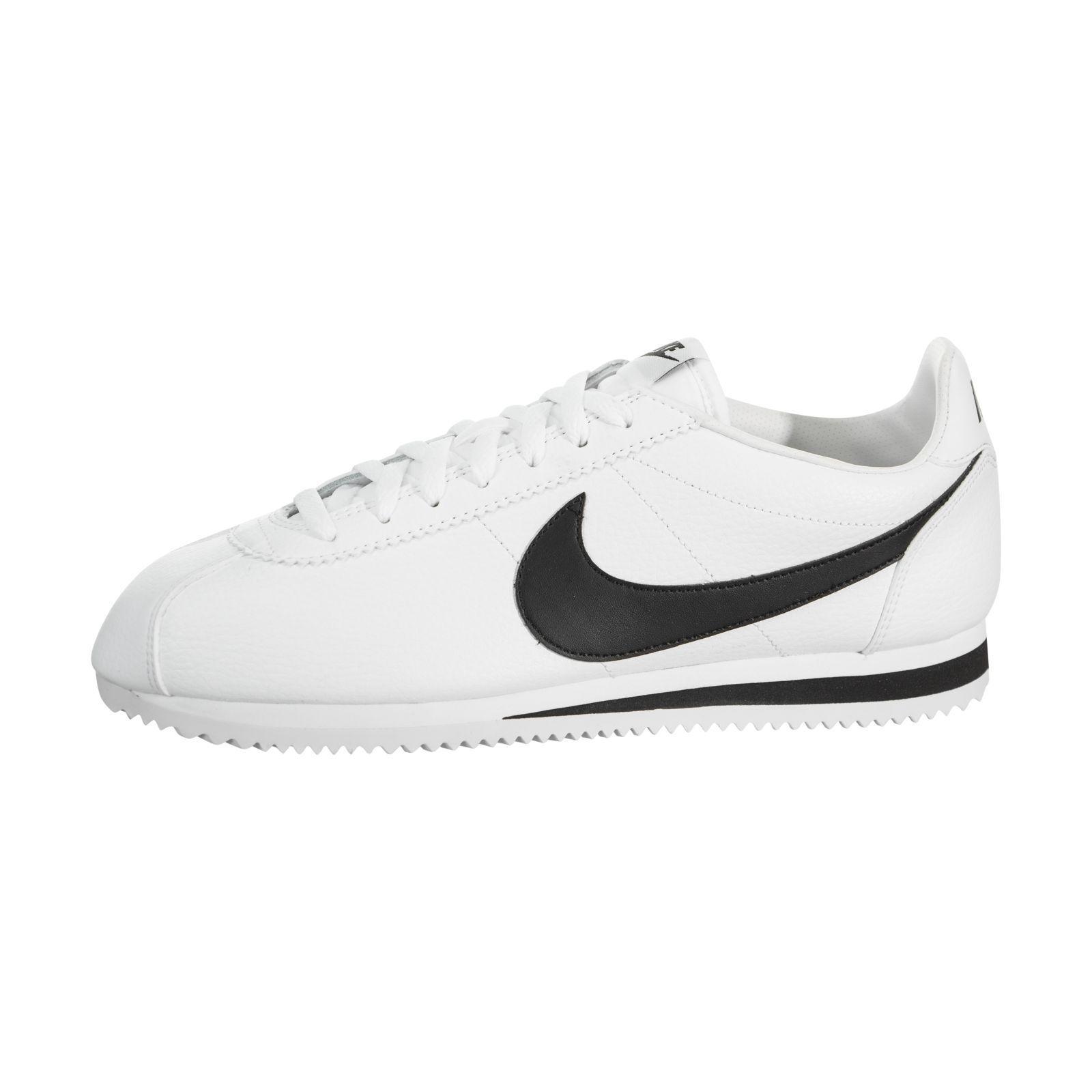 Nike nero cortez cuoio bianco / nero Nike classico 3a3a55