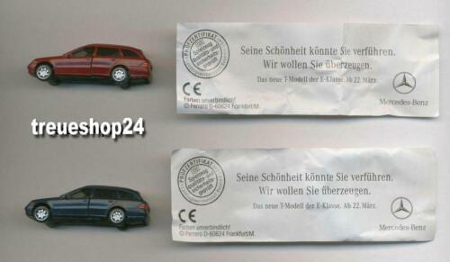 Mercedes E-Klasse Alle 2 versch 2 BPZ rot und blau