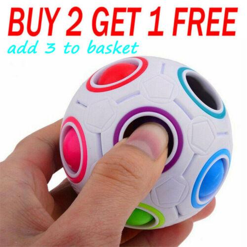 Details about  /3D Fidget Ball Rainbow Magic Puzzle Rubik Cube Toy Autism Stress Relief Kid Gift