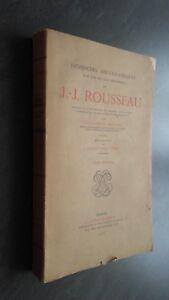 J.J.Rousseau Per Théophile Dufour Giraud-Badin Parigi 1925 Spilla Frontespizio