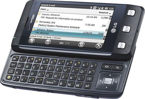 MINT LG Fathom VS750 - Black (Verizon Page Plus) Prepaid QWERTY Touch Smartphone