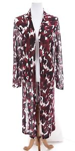 Lane-Bryant-Womens-Open-Front-Long-Knit-Duster-Cardigan-Floral-Print-Sz-22-24