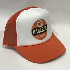 Hancock Gasoline Rooster Cock Logo Trucker Hat Vintage 80s Mesh Snapback Cap  Org 9fd4ed753e8