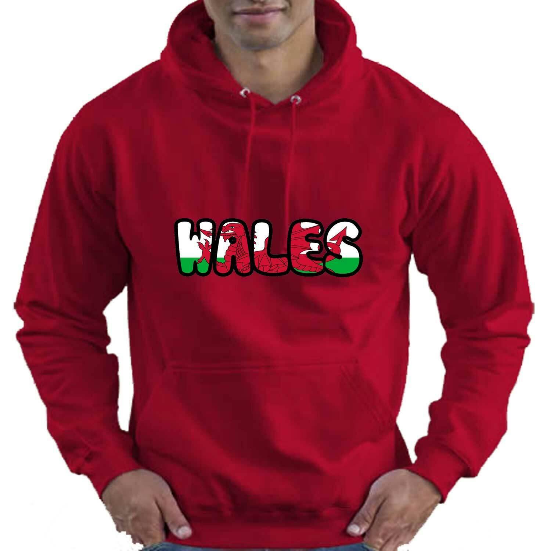Wales Welsh Flag Love Rugby Adult Unisex Mens Womens Hoodie Hooded Top Gift