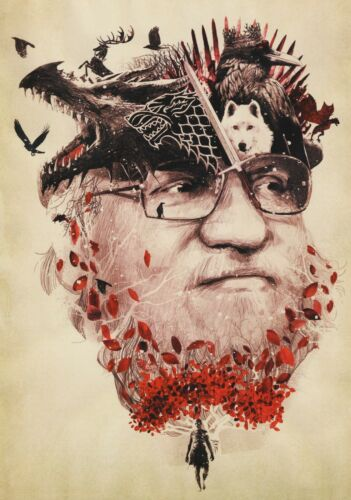 GEORGE R MARTIN TV Show PHOTO Print POSTER Series Art Game Of Thrones 001 R