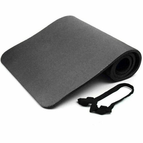 Tapis de yoga pour Pilates Gym Exercice 10 mm épais confortable sangle de transport