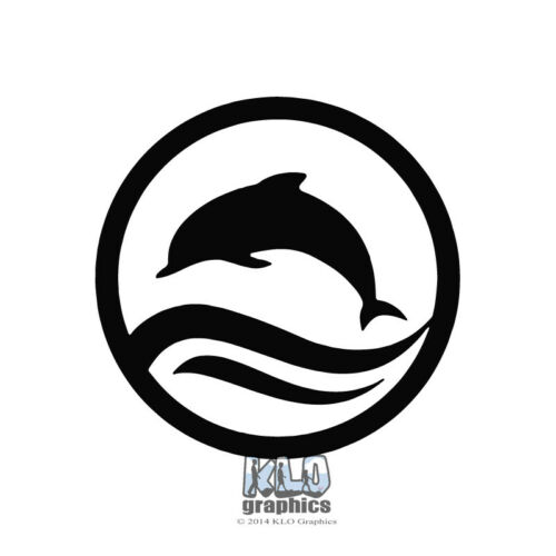 Decal Design Scuba Diver Ocean HAWAII Thrills DOLPHIN in CIRCLE Vinyl Sticker