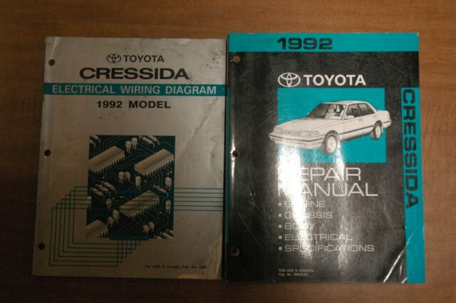 1992 Toyota Cressida Repair Manual And Electrical Wiring